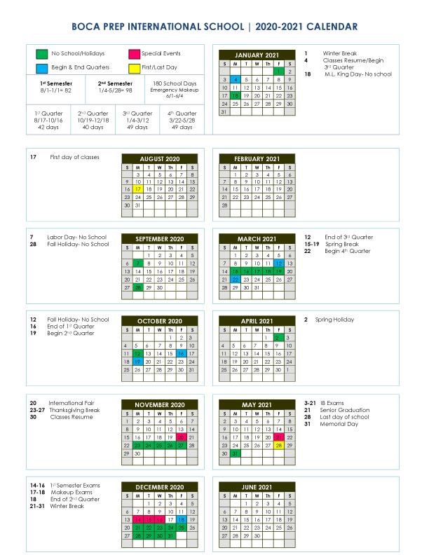 Fau 2022 Calendar.Bpis Calendar Boca Prep International School